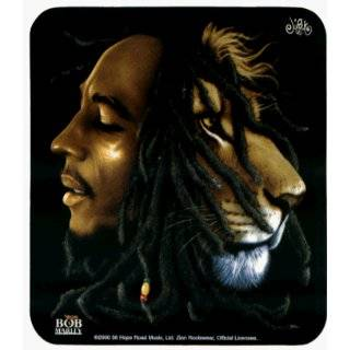 Bob Marley   Iron Lion Zion   Bob & Lion Face   Sticker / Decal