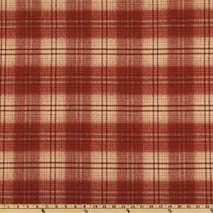 62 Wide Acrylic Suiting Plaid Burnt Orange/Cream