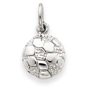 14k White Gold Soccer Ball Charm Jewelry