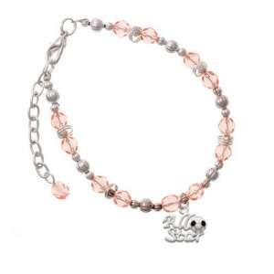 Soccerball Pink Czech Glass Beaded Charm Bracelet [Jewelry] Jewelry