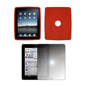 com Apple iPad   Premium Red Purple Soft Silicone Gel Skin Cover Case