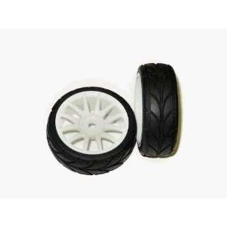 Racing 82829 White 12 Spoke Wheels   2 Pieces