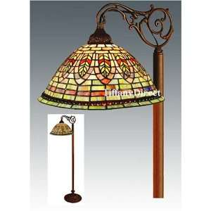 Tiffany Style Stained Glass Floor Bridge Lamp FB1429