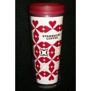 Starbucks 2009 Valentines Day Red Heart Coffee Tumbler Cup
