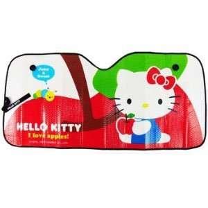 Aluminum Air Bubble Folding Sun Shade for Cars   Hello Kitty Loves