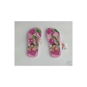 Betty Boop Ladies Thongs Flip Flops Slippers   Medium Size