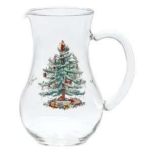 Spode Christmas Tree Glass Pitcher
