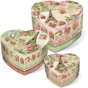 Garden Set of 3 Heart Nested Trinket Boxes Arts, Crafts & Sewing