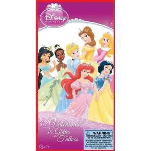 Disney Princess Valentines Day Cards and Stickers