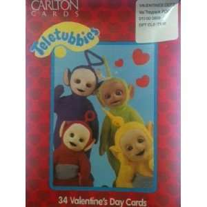 Teletubbies 34 Valentines Day Cards Toys & Games