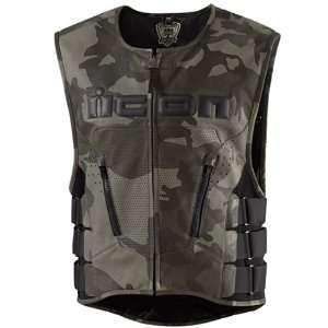 ICON REGULATOR SPECIAL OPS LEATHER VESTS LG/XL