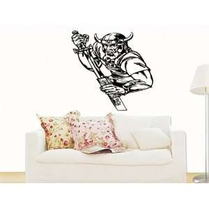 Wall Sticker Mural Vinyl Warrior Viking with Sword S4783