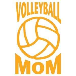 Volleyball Mom Large 10 Tall GOLDEN YELLOW vinyl window decal sticker
