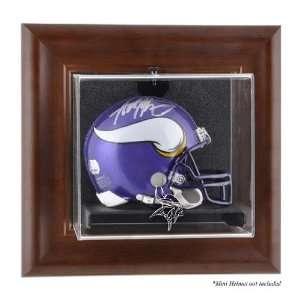 Brown Framed Wall Mounted Mini Helmet Case (vikings