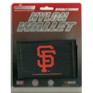 San Francisco Giants MLB Nylon Trifold Wallet