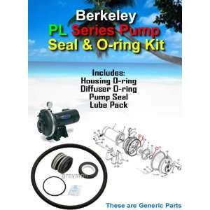 Berkeley PL Series Deep Well Pump Shaft Seal & O ring Kit