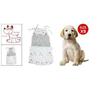 Black Pink Dot Dog Skirt XS Cotton Pet Clothes White