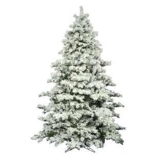 82 Flocked Alaskan Pine Christmas Tree 2883T /Hinges