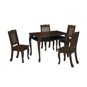 Windsor Rectangular Table and Chair Set   Color Espresso