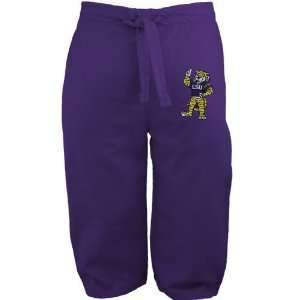 NCAA LSU Tigers Purple Youth Mascot Scrub Pant:  Sports