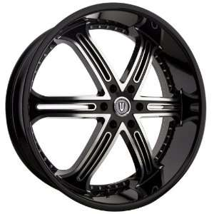 VERSANTE VE226 24x9.5 TAHOE SILVERADO Wheels Rims Black