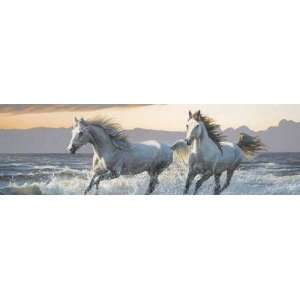 WILD HEARTS 66X20 HORSE REAR WINDOW DECAL