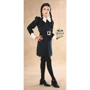 Addams Family Childs Wednesday Addams Costume, Small : Toys & Games