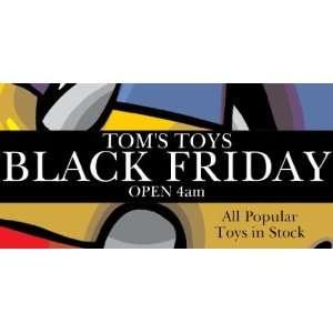 3x6 Vinyl Banner   Black Friday Toy Sale