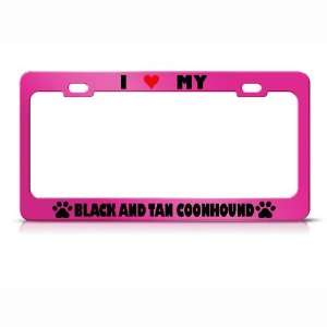 Black Russian Terrier Paw Love Heart Pet Dog license plate frame Tag