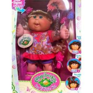 Pop N Style Cabbage Patch Kids Doll   Blonde Hair & Green Eyes in