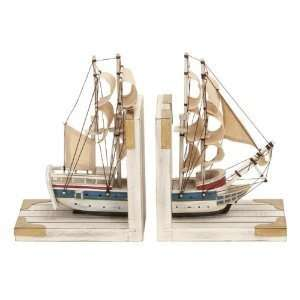 Bookends Nautical Sailboat Bookend 9h, 6w Wood Book Ends