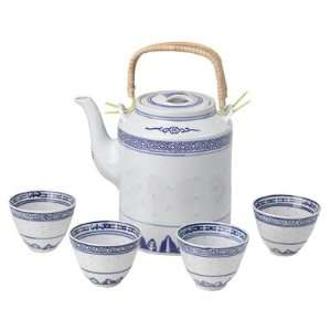 Classical Blue & White Chinese Tea Set Home & Kitchen