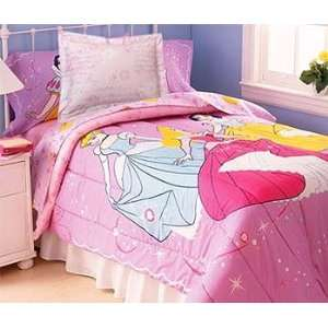 Twin Disney Princesses Comforter Set Cinderella Blanket