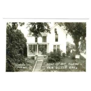 Home of Bob Burns Van Buren RPPC Arkansas Traveler Everything Else