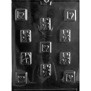 LOVE SQUARES Valentine Candy Mold chocolate
