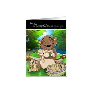 Jungle Babies Mothers Day   to Daughter in Law Card