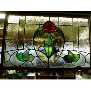 Stunning Extra Large Antique Stained Glass Window