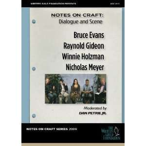 Notes on Craft Dialogue and Scene Writers Guild