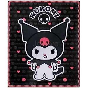 Sanrio KUROMI Devil Skull Fleece Soft Throw Bedding Bed