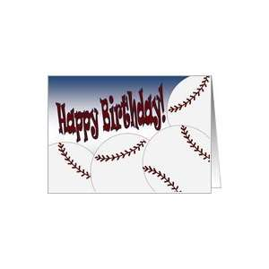 Happy Birthday to Our Favorite Baseball Star & Son! Card: Toys & Games