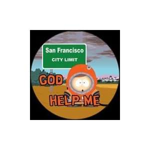 South Park God Help Me Button SB3116: Toys & Games