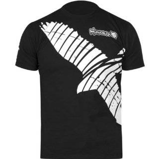 Hayabusa Official MMA Winged Strike T Shirts/Tee   Silver:
