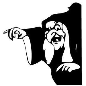 Snow White Wicked Witch Vinyl Decal Sticker Black Vinyl 8 Inch