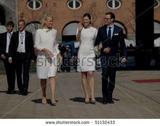 Princess Mette Marit of Norway and Princess Victoria of Sweden visit