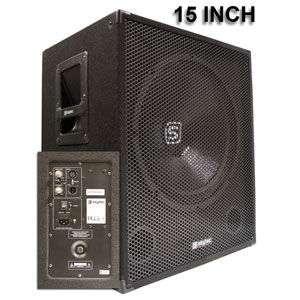 SKYTEC ACTIVE SUBWOOFER SPEAKER BOX 15INCH 600WATT