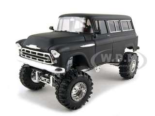 1957 Chevrolet Suburban Diecast Car Model 1/24 Primer Black by So Real