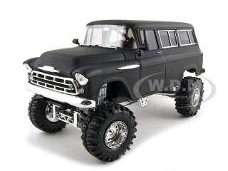 1957 Chevrolet Suburban Diecast Car Model 1/24 Primer Black by So Real