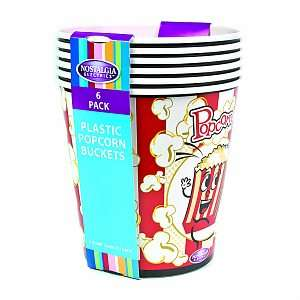 Buy Nostalgia Electrics PPB 600 4 Quart Popcorn Buckets, 6 pack & More