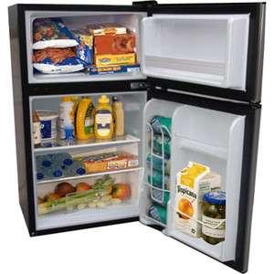 New Haier 3.3 Cubic Feet Compact Refrigerator Freezer Virtual Steel
