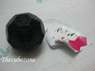 Rare Black TuttMinx Rubik Cube Puzzle (With Sticker)